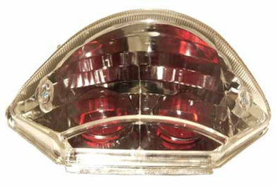 CB900 Hornet clear lens tail light unit with red bulb shrouds. E-marked and legal. 62-84746