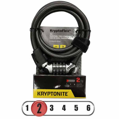 Kryptonite Kryptoflex 1218 Resettable Combo Cable