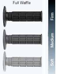 Renthal Single Compound MX Full Waffle grips are available in soft, medium and firm compounds