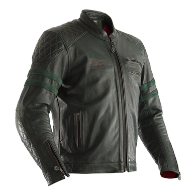 RST IOM TT HILLBERRY LEATHER JACKET [GREEN]