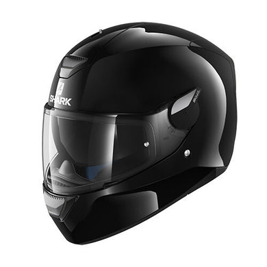 Shark D-Skwal Blank Gloss Black Full Face Road Helmet