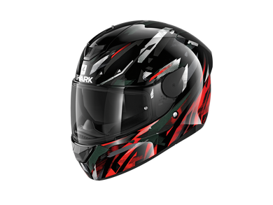 Shark D-Skwal 2 Kanhji Black/Red/White Full Face Road Helmet