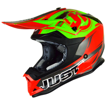Load image into Gallery viewer, JUST1 J32 Pro Rave Red/Lime MX Helmet