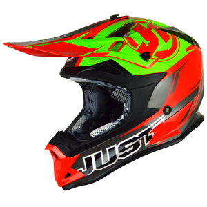 JUST1 J32 Pro Rave Red/Lime MX Helmet
