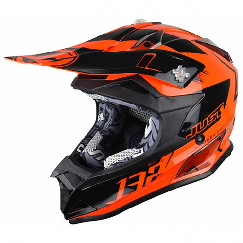 JUST1 J32 Pro Kick Orange MX Helmet
