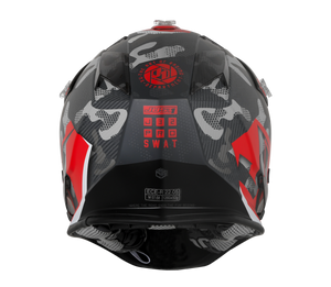 JUST1 J32 Swat Camo Red Matt Helmet