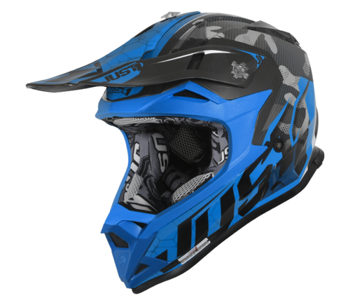 JUST1 J32 Swat Camo Blue Youth Helmet