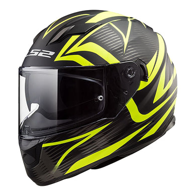 LS2 FF320 Stream Evo Jink Black/Yellow/Hi-Vis Road Helmet
