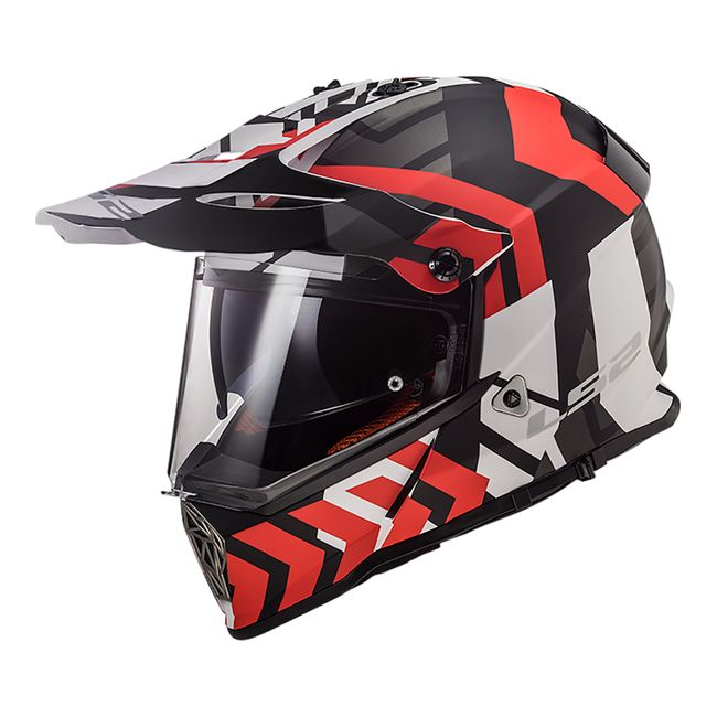 LS2 MX436 Pioneer Xtreme Matte Black/Red Helmet 2XL