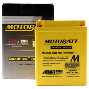 Motobatt MBTX14AU Quadflex Battery