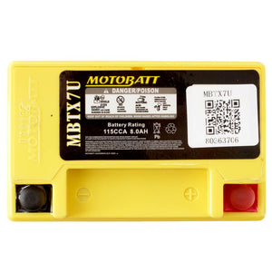Motobatt MBTX7U Quadflex Battery