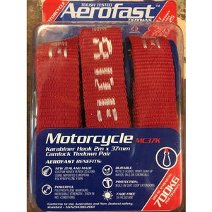 Aerofast Motorcycle Tie Down - 2m x 37mm Pair