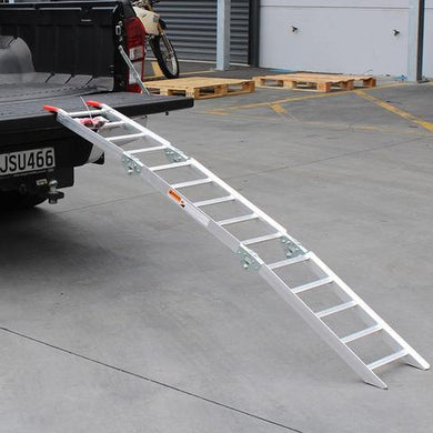 WHITES 011 Alloy Tailgate Ramp Folding 222 X 35.cm 318kg rated