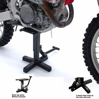 DF-D011-1851 - DRC A1185 offroad bike lift stand can be used on bikes with ground clearances between 310mm to 410mm