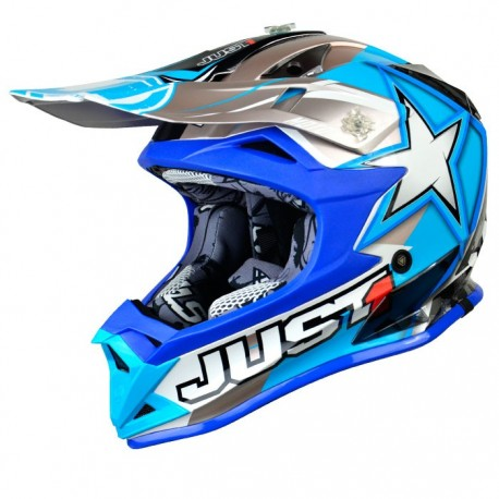 JUST1 J32 Youth Moto X Blue MX Helmet