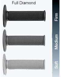 Renthal Single Compound MX Full Diamond grips are available in soft, medium and firm compounds