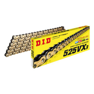 DID 525VX3 X-RING CHAIN GOLD