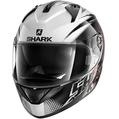 Shark Ridill Finks White/Black/Red Road Helmet