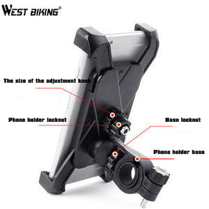 WEST BIKING Universal Bicycle Phone Holder 3.5 inch to 5.5 inch