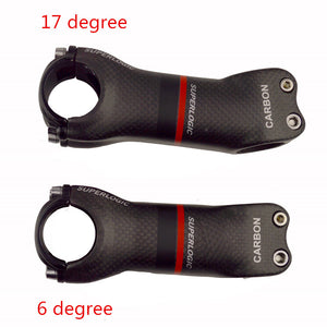 Superlogic 3k matte Full Carbon Fiber Bicycle Stem Angle 6/17 Degree