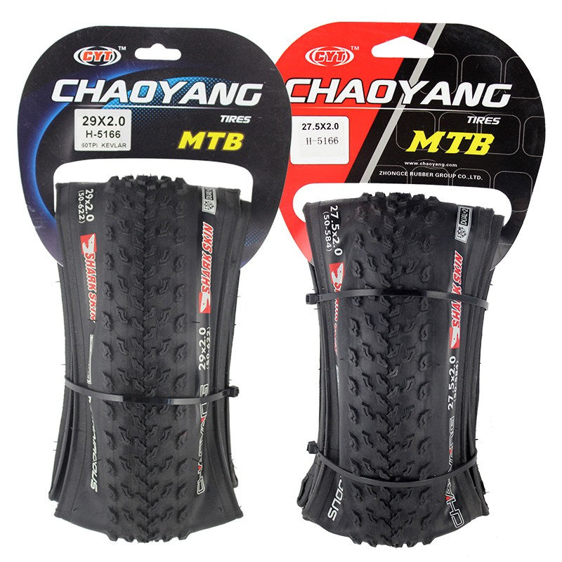 "CHAOYANG H-5166 60TPI High Quality Rubber Shark Skin Anti-puncture Bicycle Tire For 26"" Mountain Bike"