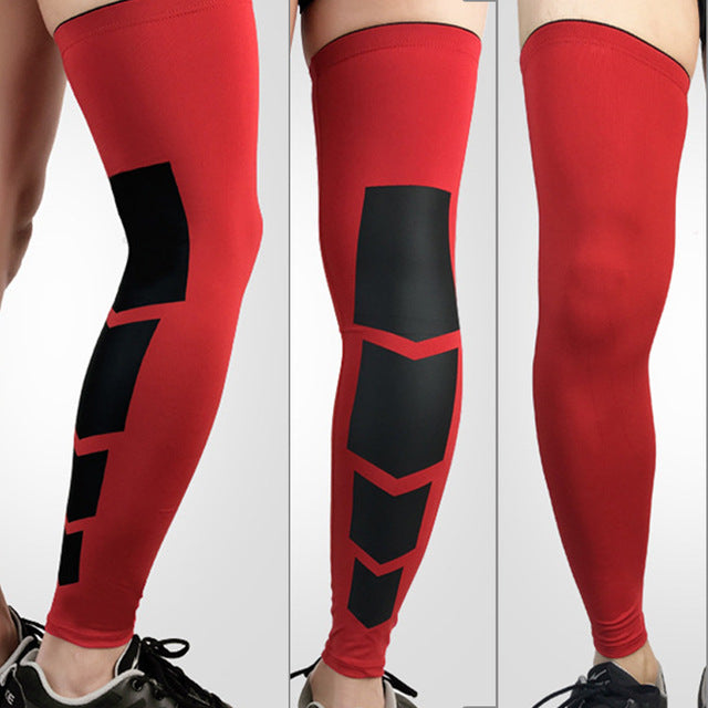1PCS Pro Sports Silicone Antiskid Long Knee Legwarmers Support Sleeve
