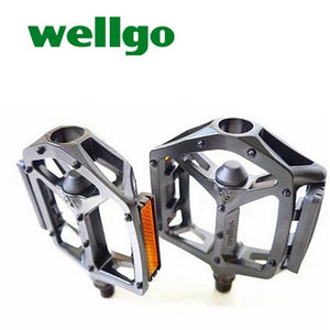 Wellgo Bicycle Pedals Black/Silver