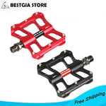 327g/pair Cr-Mo Axle Ultra-light Bicycle Pedals 4 Bearings Alloy