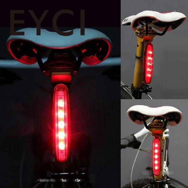 EYCI 5 LED Cycling Laser Security Warning Rear Tail Light Red