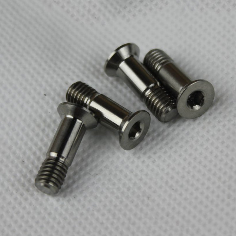 2PCS Bicycle Rear Derailleur Guide Wheel Screws Bolts M5*16mm Titanium Alloy