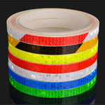Bicycle Reflective Stickers Fluorescent Decal Tape 1CM*8M