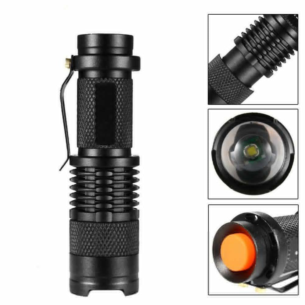 Bike Light 7 Watt 2000 Lumens 3 Mode Q5 Bicycle LED Front Torch and Holder