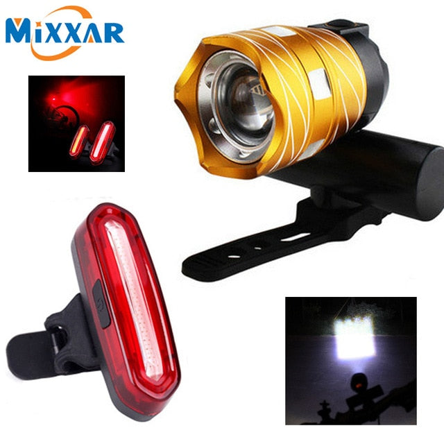 USB Rechargeable Built-in Battery 15000LMZK30 T6 LED Bicycle Light Bike Front Lamp