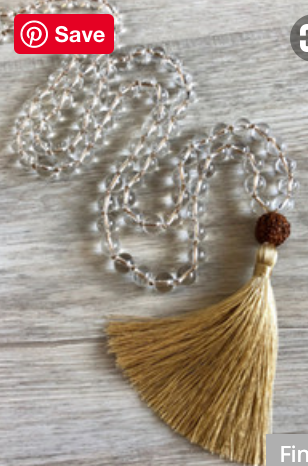 Yoga and Mindfulness: 108 Bead Mala Necklace