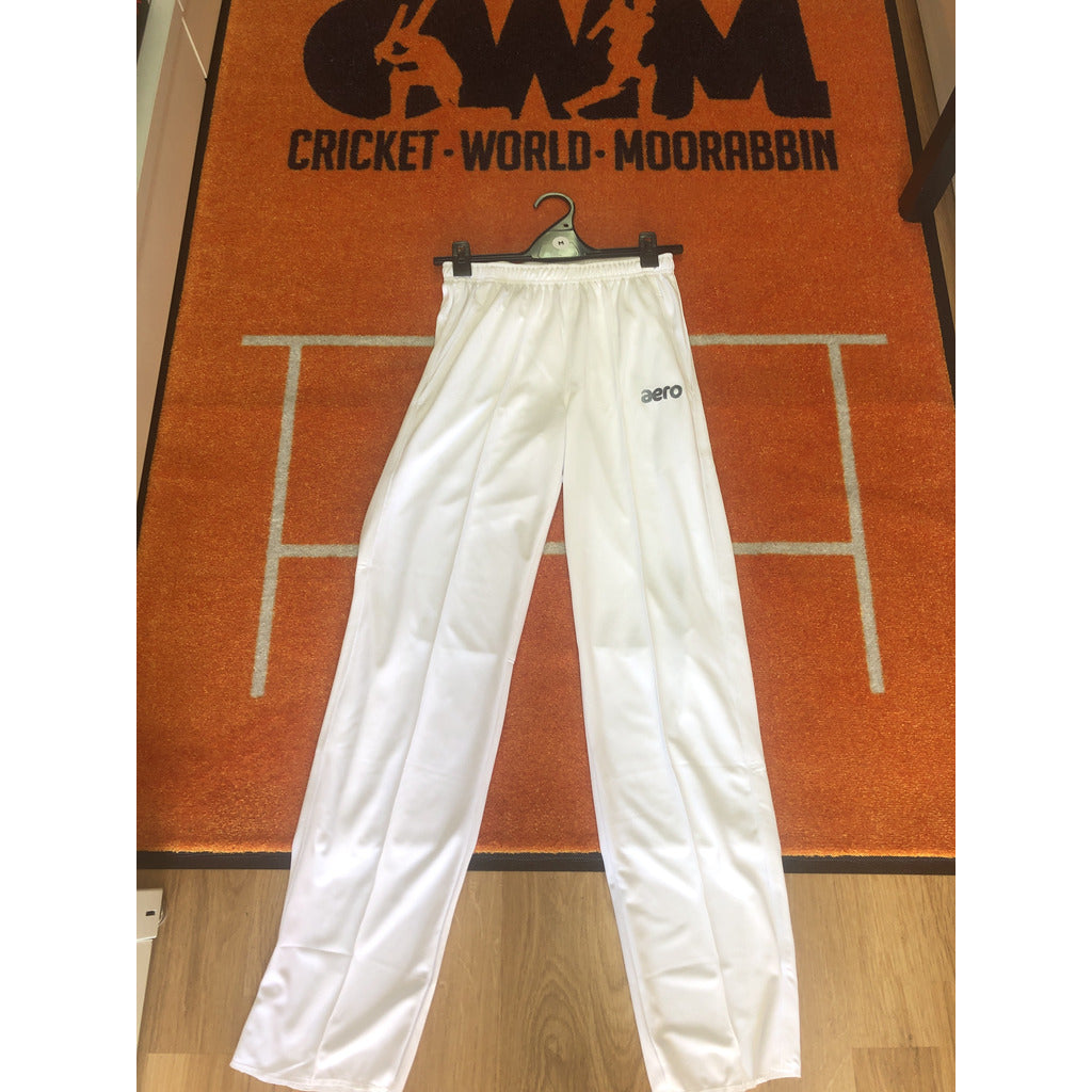 AERO WHITE CRICKET TROUSERS
