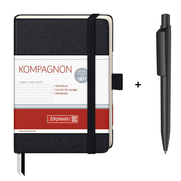 Brunnen Pocket Notebook + Maxema Dot Pen Set - The European Boulevard Premec Prodir Brunnen Carioca Ooly