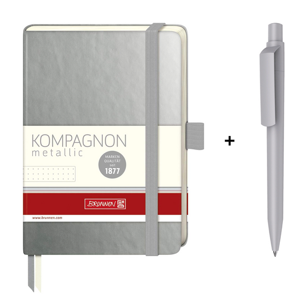 Brunnen Metallic Pocket Bullet Journal + Maxema Dot Pen Set - The European Boulevard Premec Prodir Brunnen Carioca Ooly