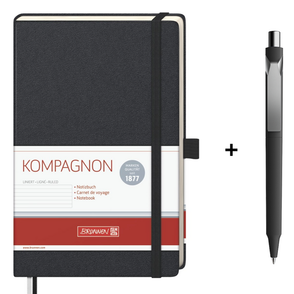 Brunnen Notebook + Prodir DS10 Pen Gift Set - The European Boulevard Premec Prodir Brunnen Carioca Ooly