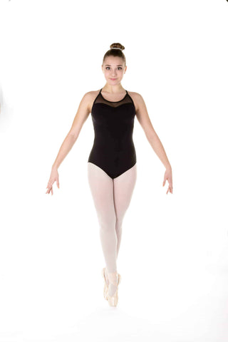 One Piece in Supplex with Mesh Inserts - Black