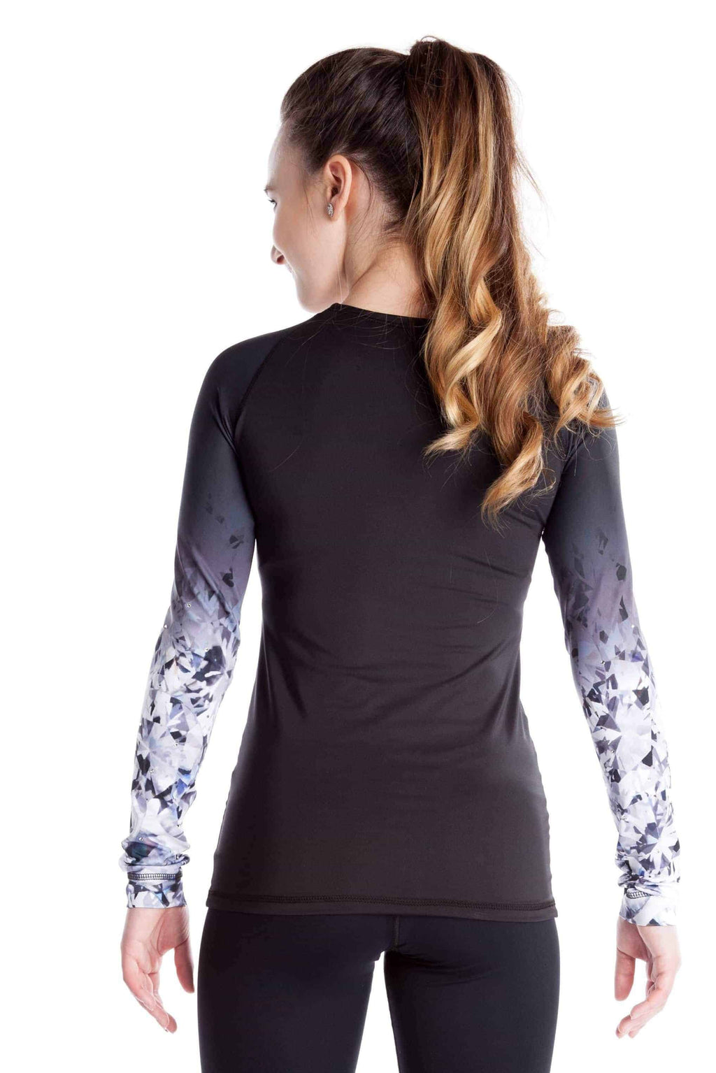 Shirt with Sublimated Sleeves - Black Crystal - Elite Xpression