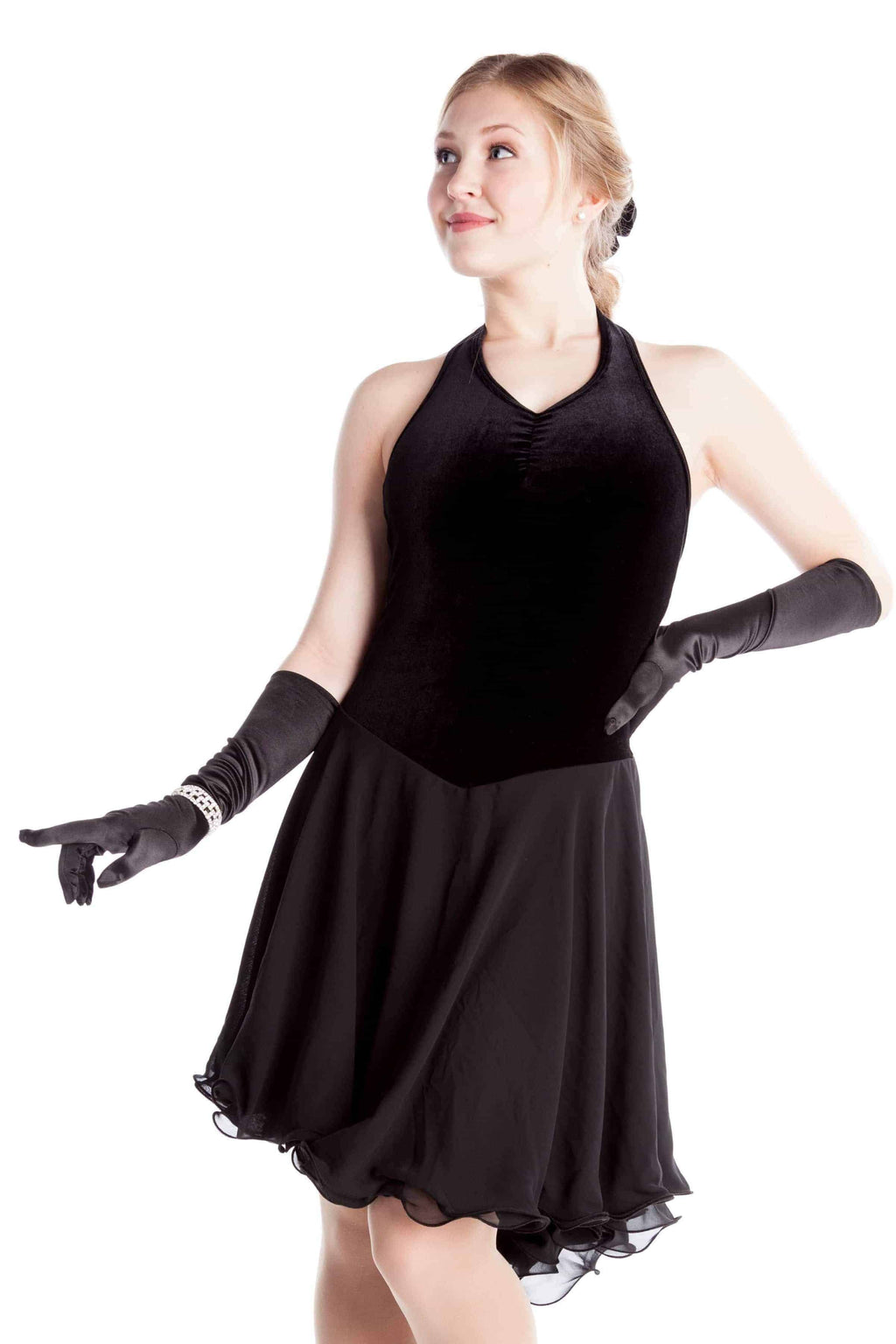 Basic velvet dance dress - Black - Elite Xpression