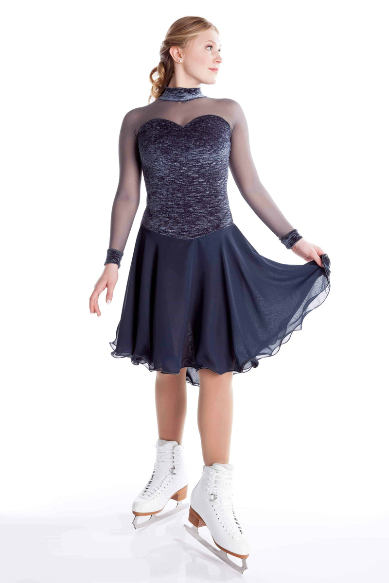 Grey Crinkle Dance Dress - Elite Xpression
