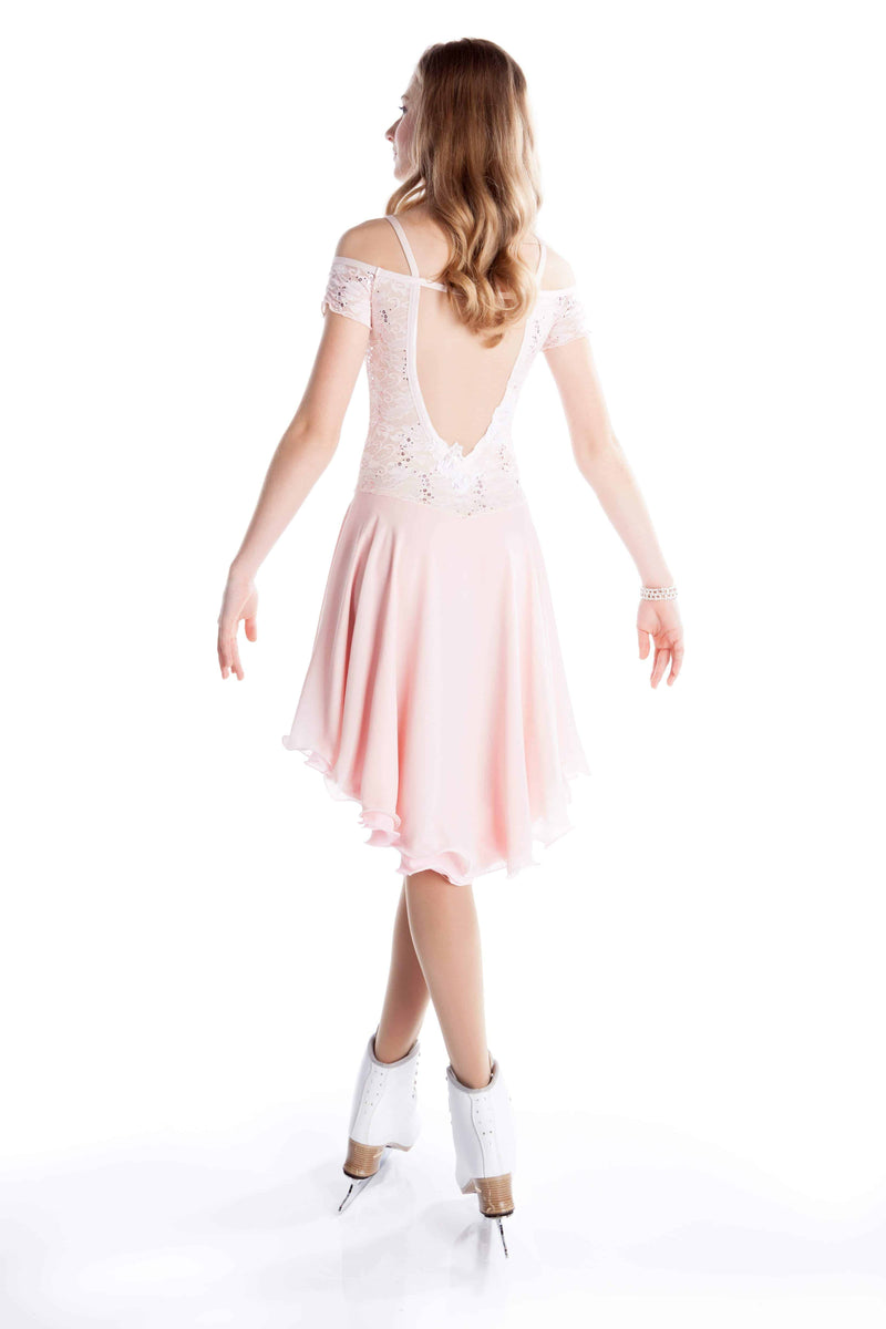 Blush Lace Dance Dress - Elite Xpression