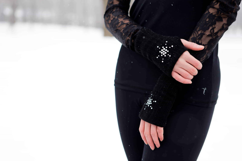 Star Rhinestones Black Glove Protector - Elite Xpression