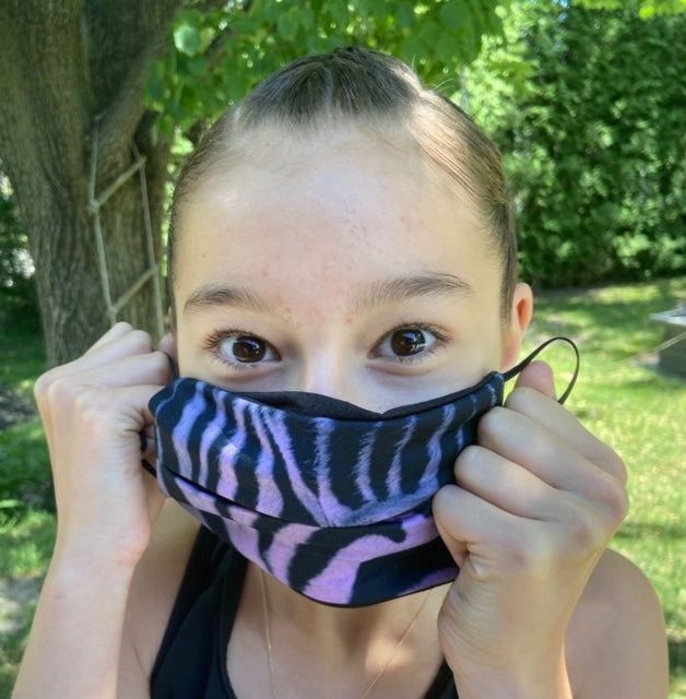Purple Zebra Mask - Elite Xpression
