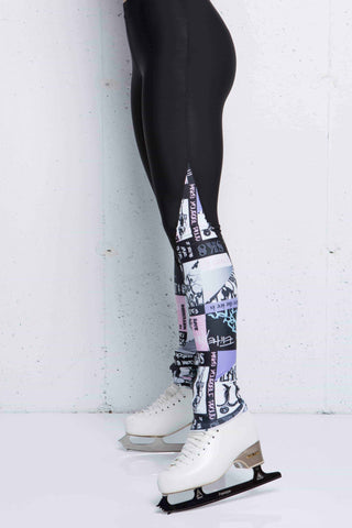 4EVER leg warmer style legging - Black