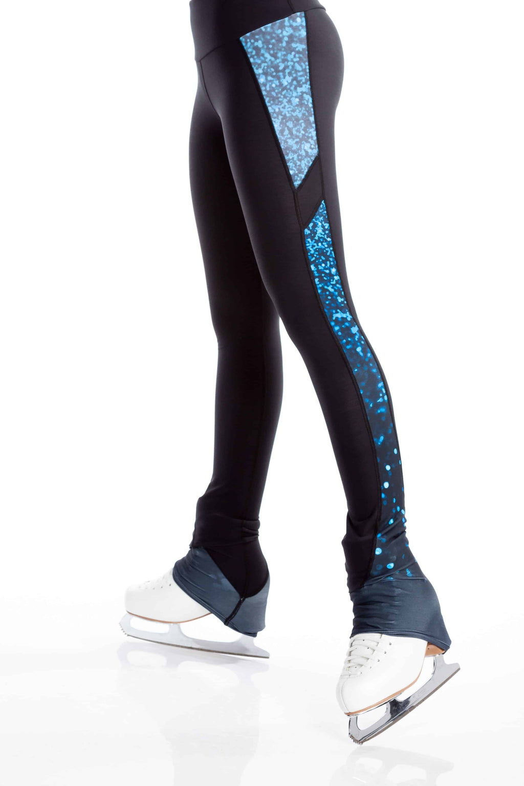 Legging with Insert - Sparkle Blue - Elite Xpression