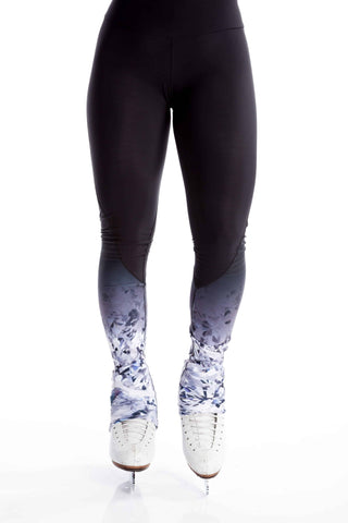 Legging with Inserts - Blue Sparkle