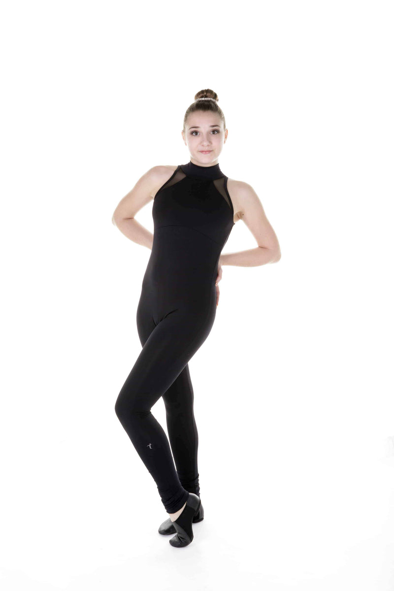 One Piece in Supplex with Mesh Inserts - Black - Elite Xpression