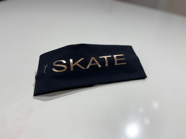 Black headband Skate rose gold